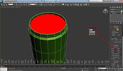 گام هجدهم طراحی قوطی در 3DMax