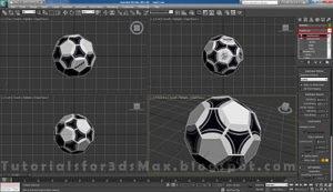 گام هجدهم طراحی توپ در تری دی مکس