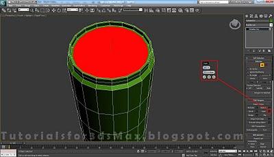 گام نوزدهم طراحی قوطی در 3DMax