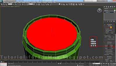 گام بیستم طراحی قوطی در 3DMax