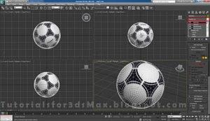 گام بیستم طراحی توپ در تری دی مکس