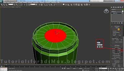 گام بیست و یکم طراحی قوطی در 3DMax