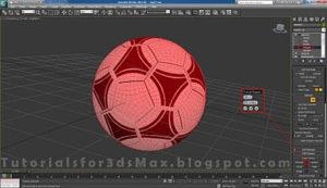 گام بیست و یکم طراحی توپ در تری دی مکس