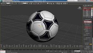 گام بیست و دوم طراحی توپ در تری دی مکس