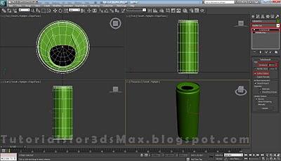 گام سی و سوم طراحی قوطی در 3DMax
