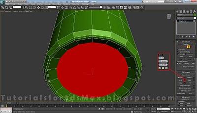 گام ششم طراحی قوطی در 3DMax