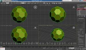 طراحی توپ در تری دی مکس