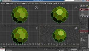 گام هشتم طراحی توپ در تری دی مکس