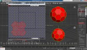 گام نهم طراحی توپ در تری دی مکس