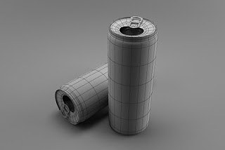 نتیجه نهایی طراحی قوطی در تری دی مکس