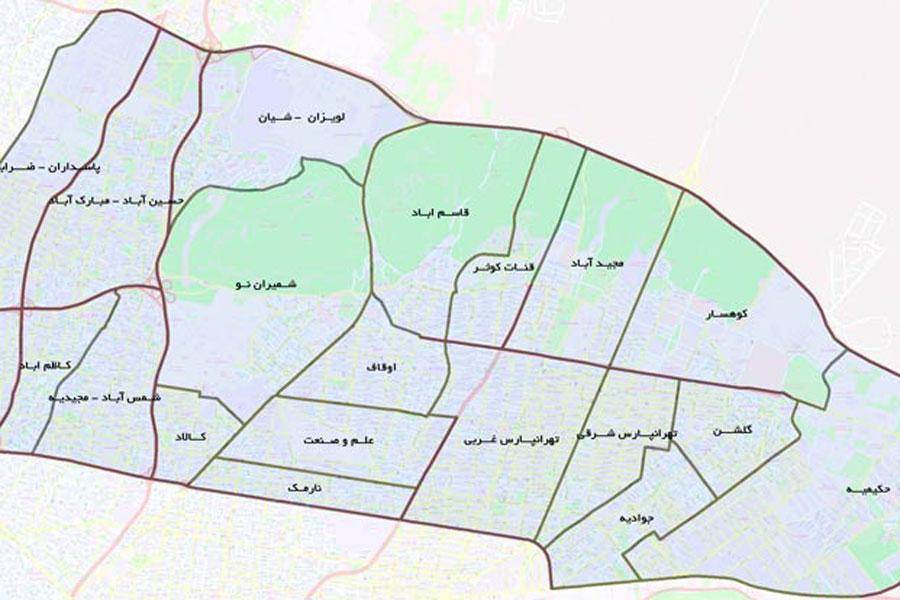 طرح تفصیلی منطقه 4 تهران