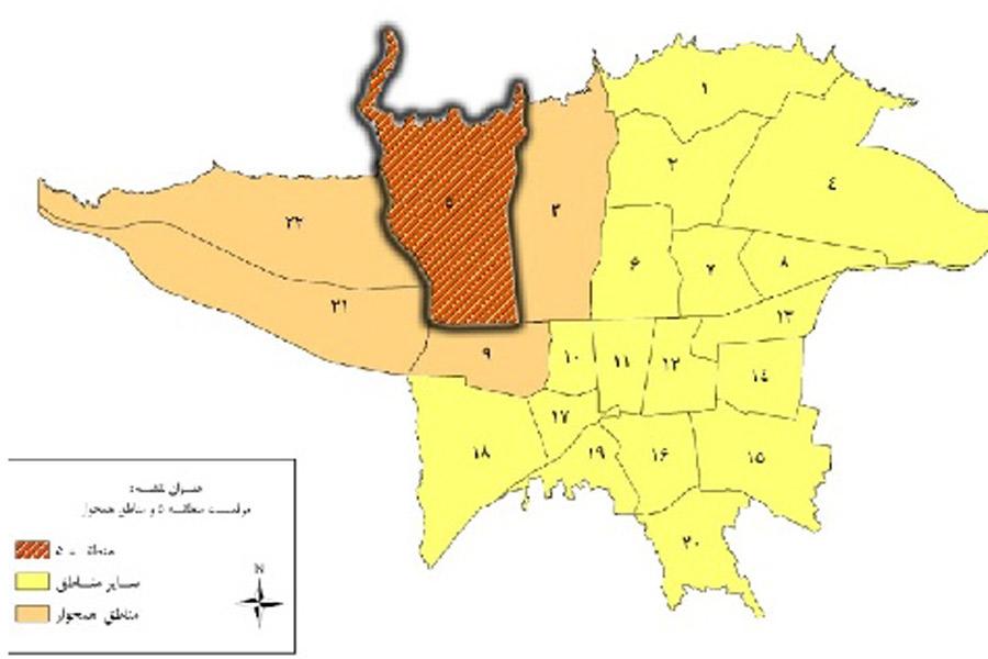 طرح تفصیلی منطقه 5 تهران
