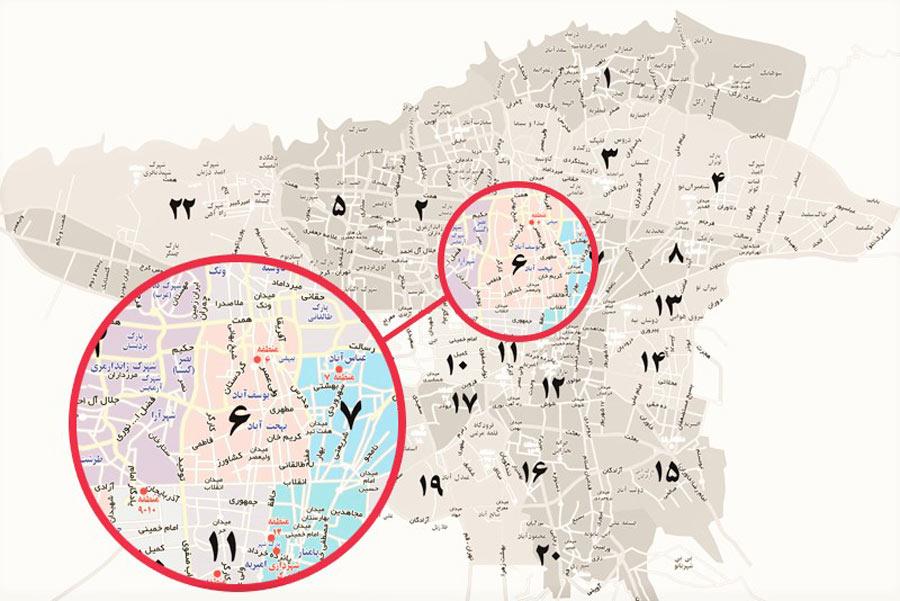 طرح تفصیلی منطقه 6 تهران