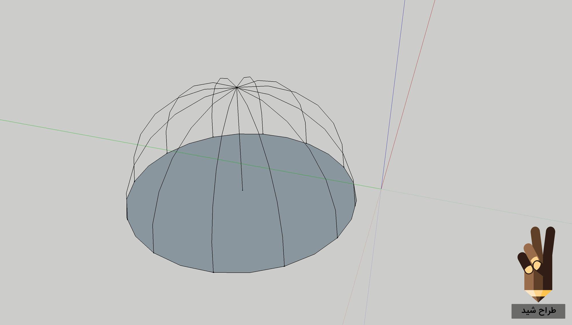طراحی گنبد در اسکچاپ 5