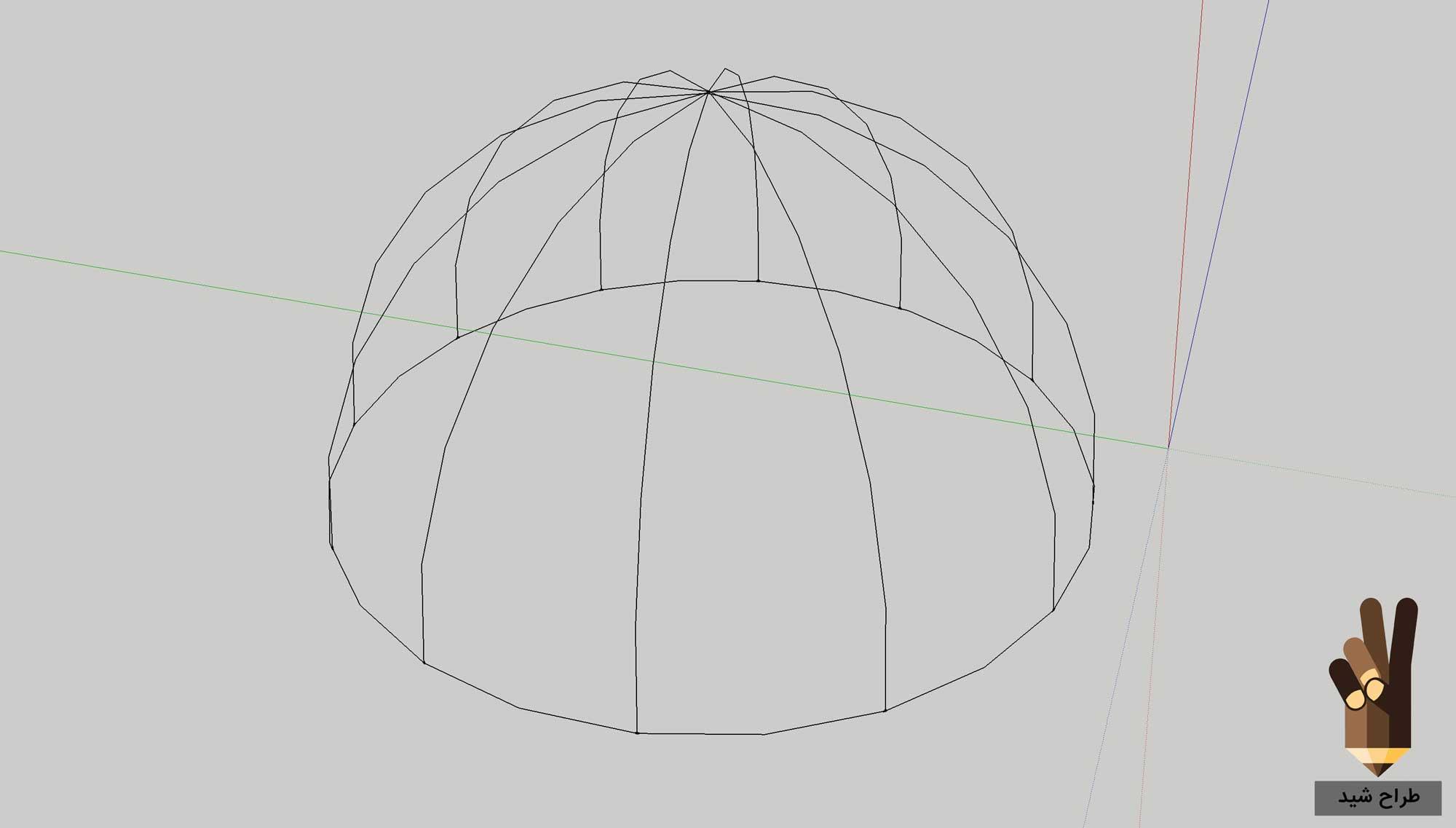 طراحی گنبد در اسکچاپ 6