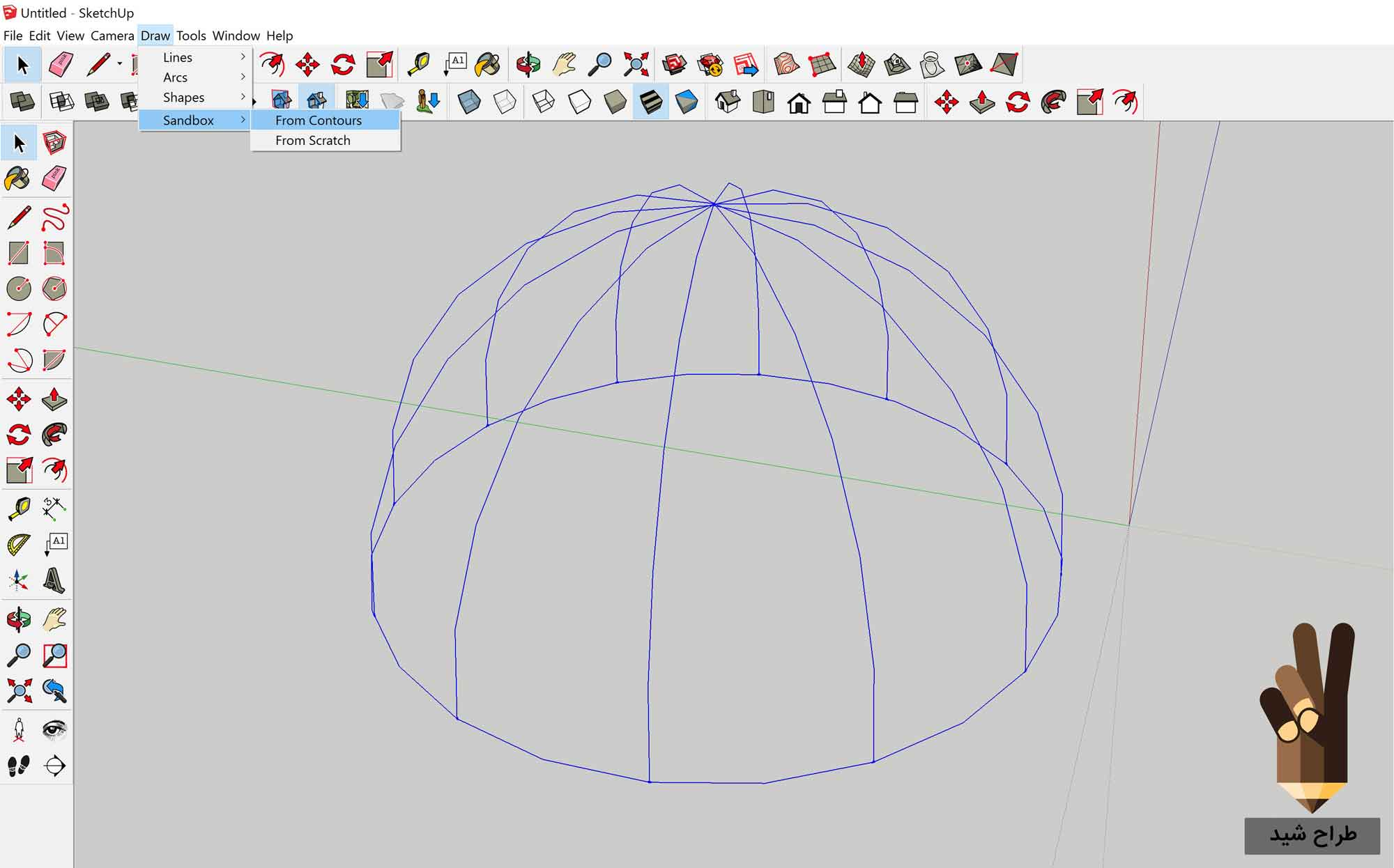 طراحی گنبد در اسکچاپ 7