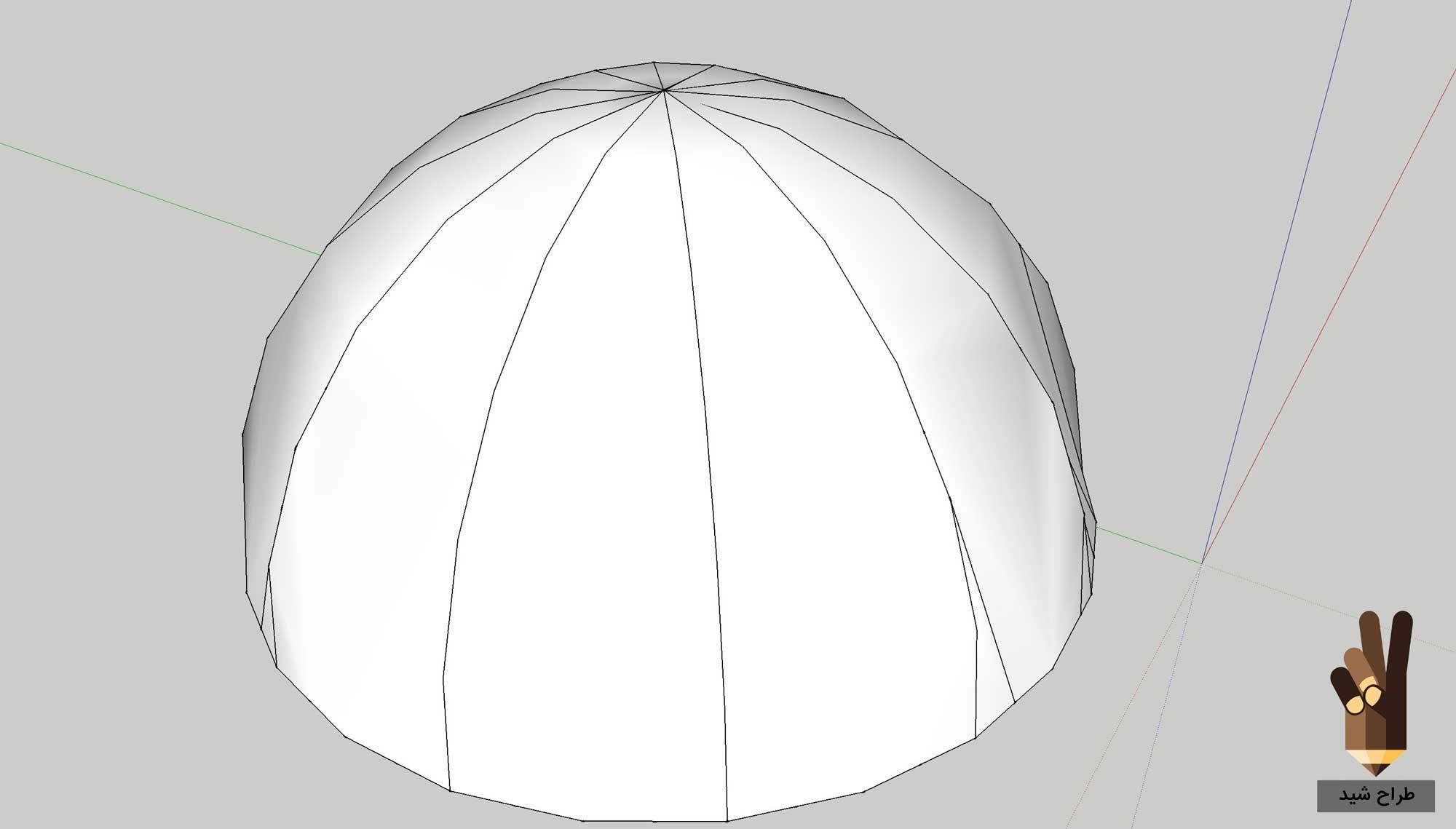 طراحی گنبد در اسکچاپ 8