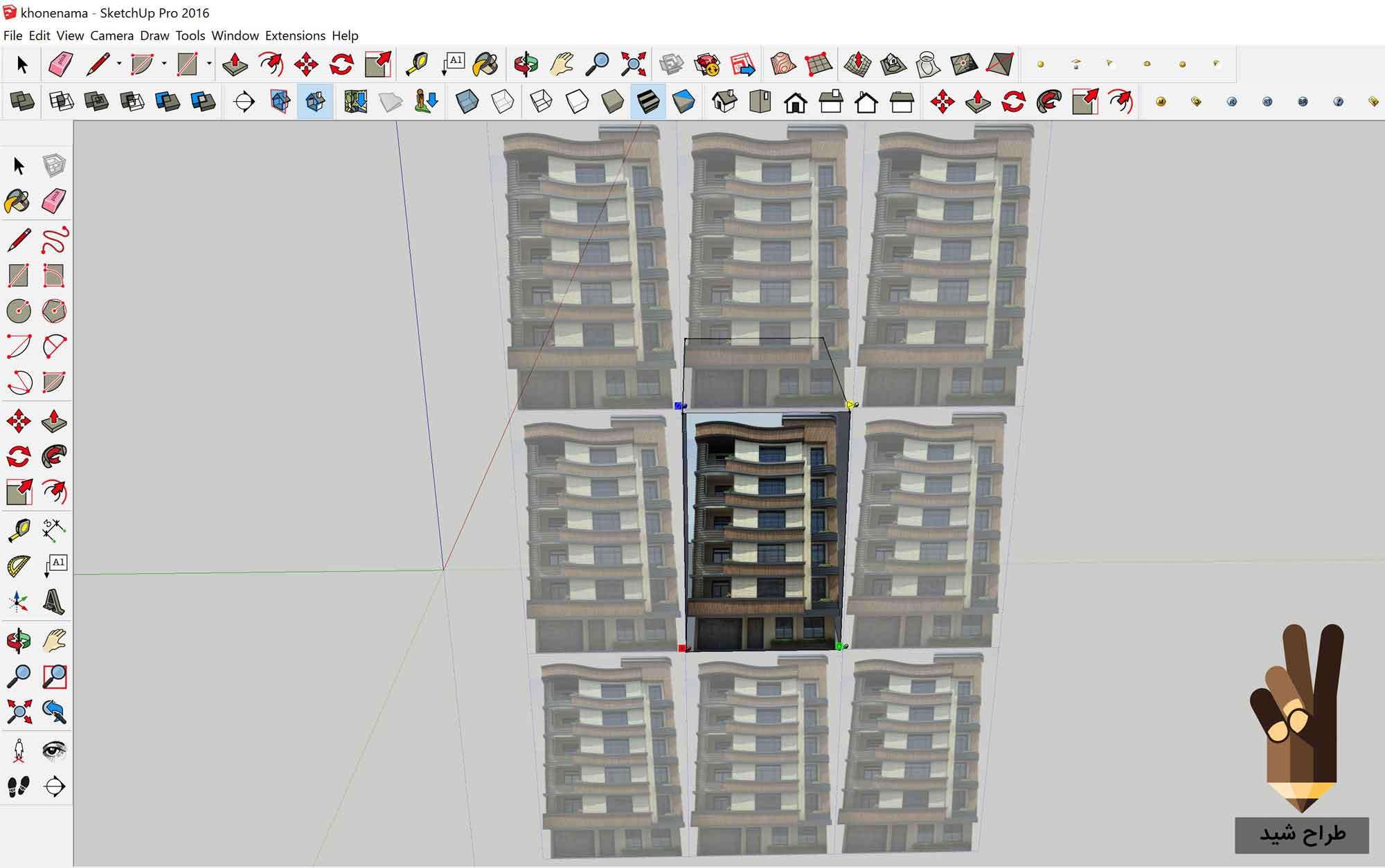 سه بعدی کردن نمای ساختمان در اسکچاپ 6