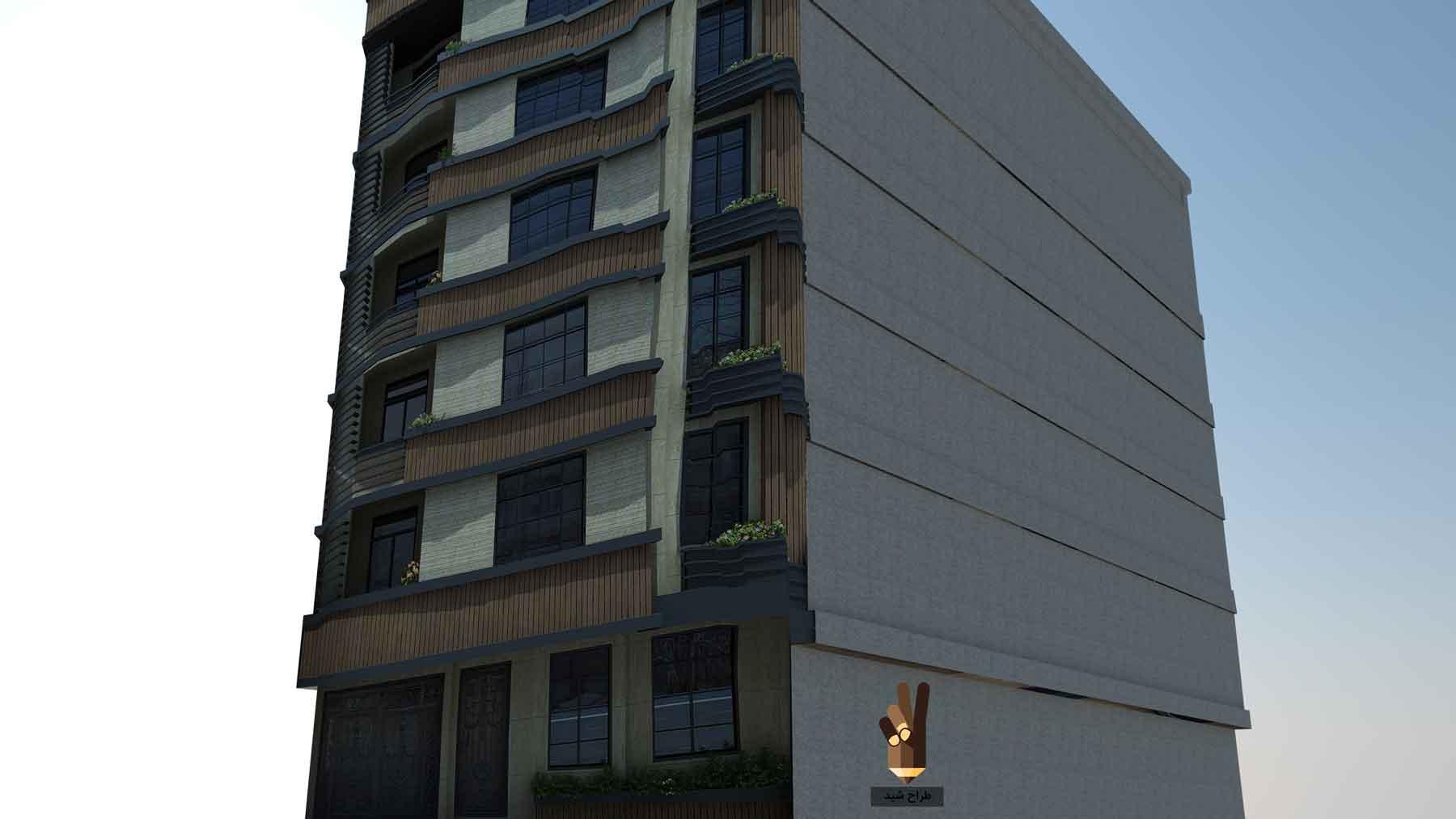 سه بعدی کردن نمای ساختمان در اسکچاپ 8