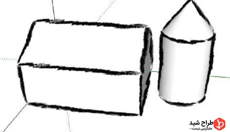 طراحی stroke برای سبک کتابخانه در اسکچاپ 2