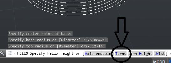 دستور helix در اتوکد 1