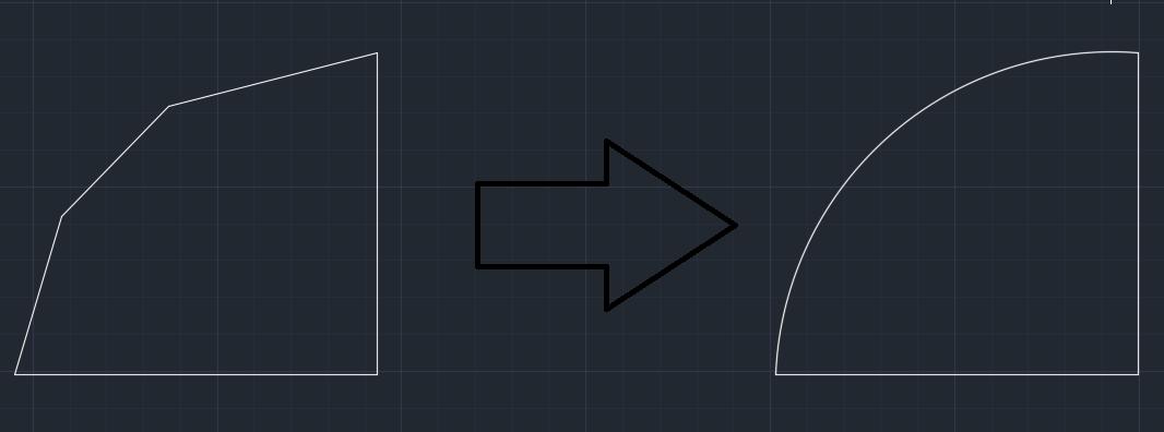 خطوط منحنی در اتوکد