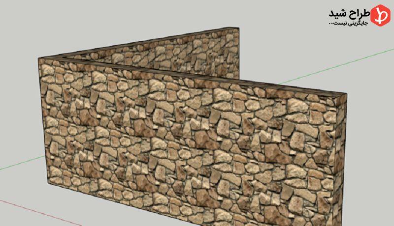 چگونگی ساخت متریال سنگ در اسکچاپ 1