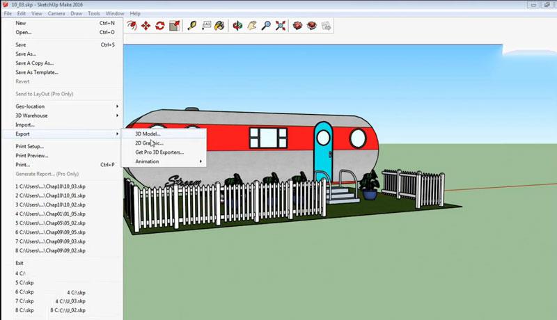 آموزش رندرگیری در نرمافزار اسکچاپ