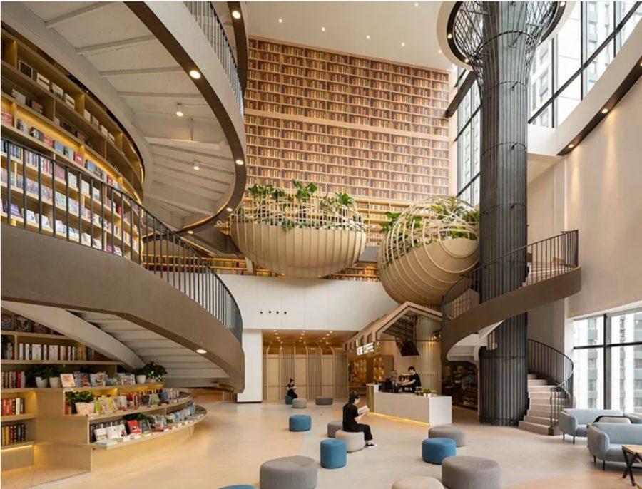 کتابخانه M.I طراحی فوق العاده ای از کتابفروشی مدرن 3