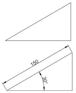 زاویه در اتوکد به کمک دستور angle 1