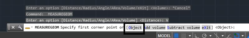 دستور volume در اتوکد | اندازه گذاری در اتوکد 7