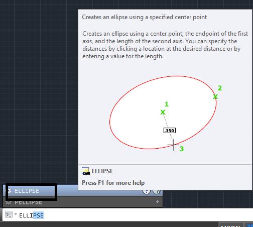 دستور ellipse