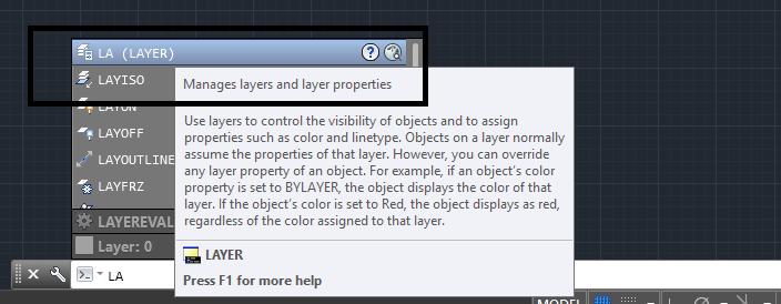 دستور layer در اتوکد