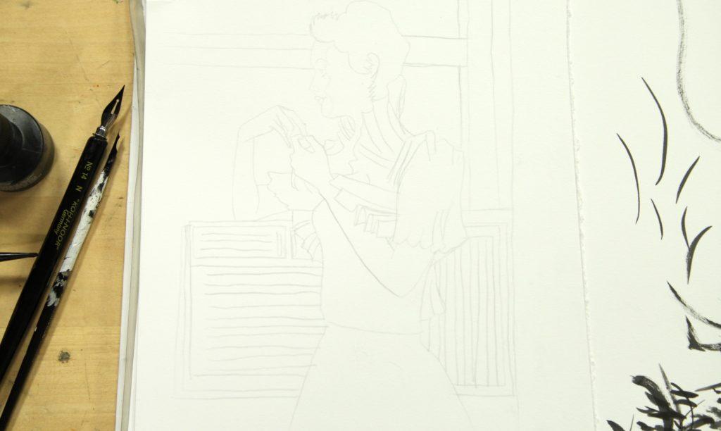کار با مداد در شروع کار