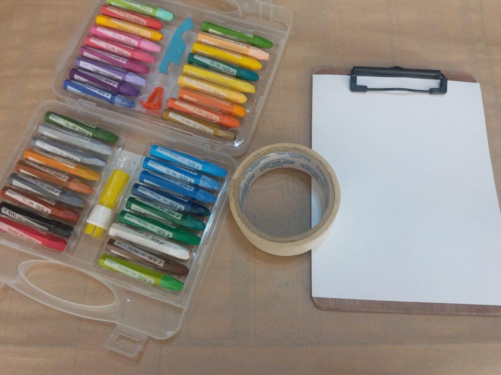 وسایل نقاشی مداد شمعی