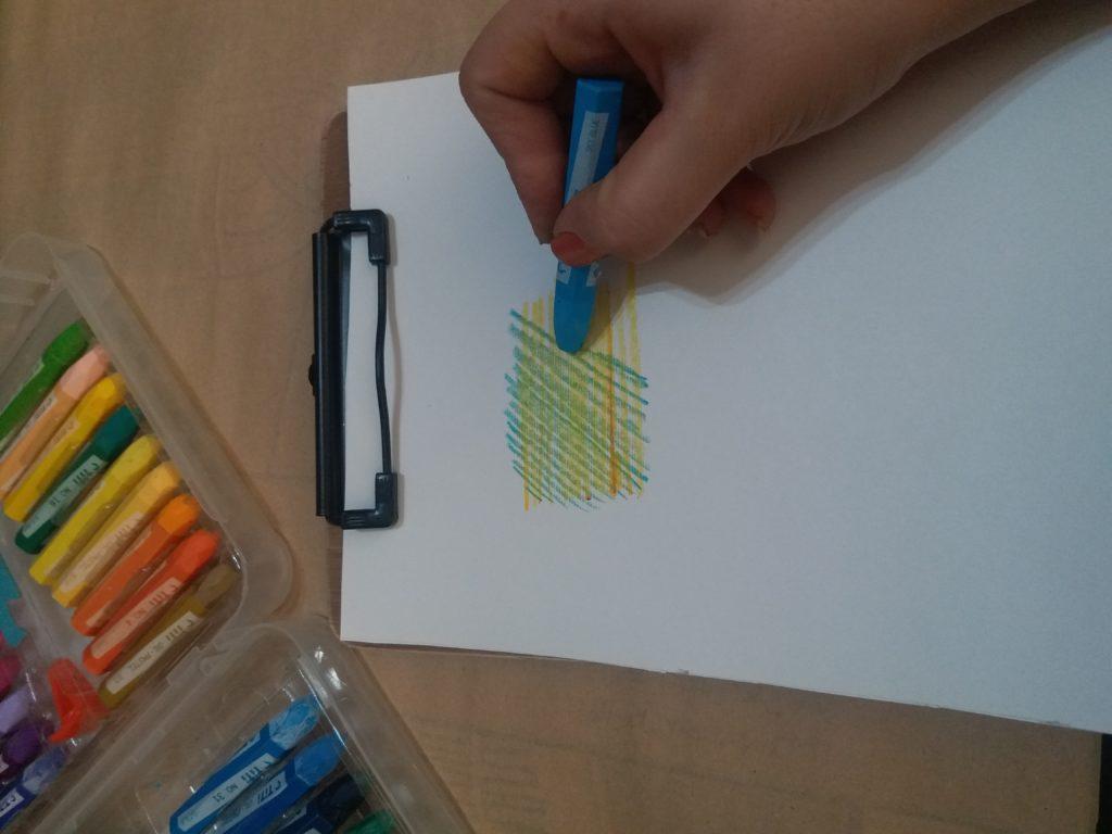 نقاشی مداد شمعی