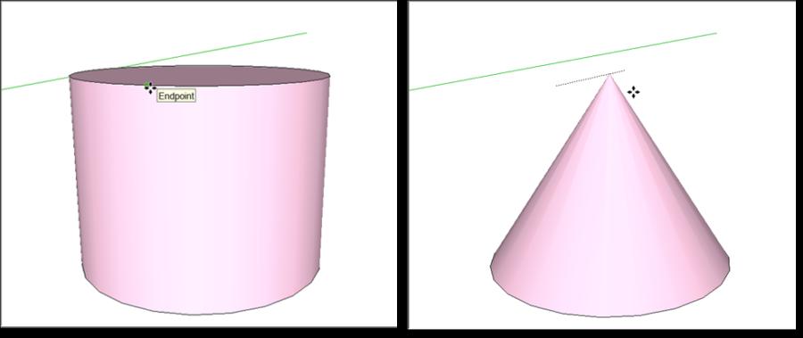 رسم گنبد و مخروط در اسکچاپ 1
