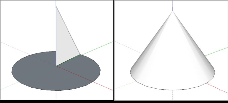 رسم گنبد و مخروط در اسکچاپ 2