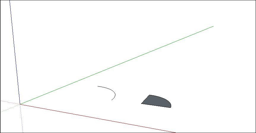 رسم قوس در اسکچاپ 3