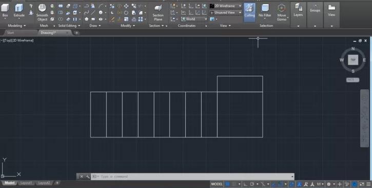 رسم انواع پله در اتوکد 3