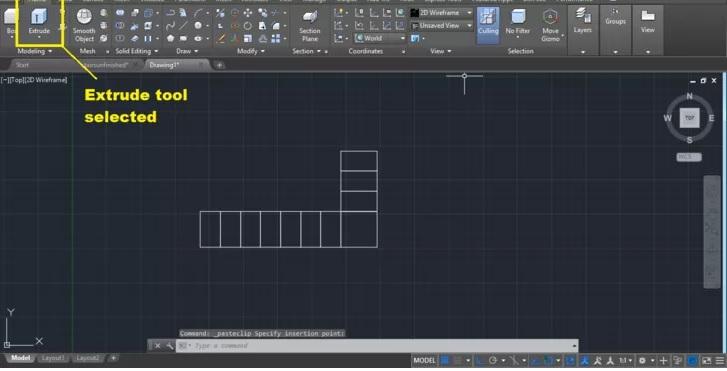 رسم انواع پله در اتوکد 4