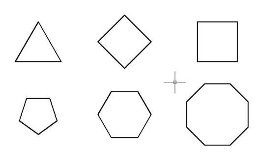 چند ضلعی در اتوکد 1
