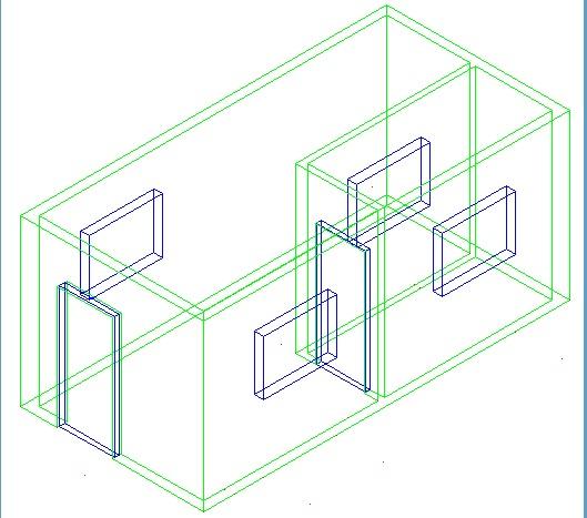 ترسیم ساختمان با اتوکد 5