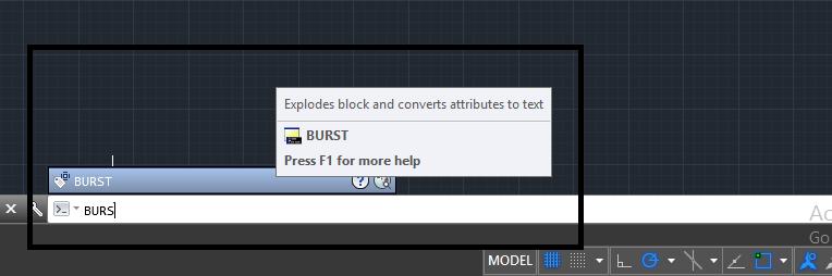 دستور burst در اتوکد | جداسازی خطوط در اتوکد 1