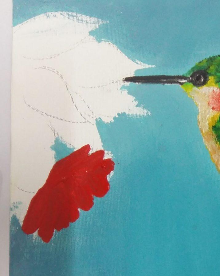 آموزش نقاشی با گواش روی بوم 6
