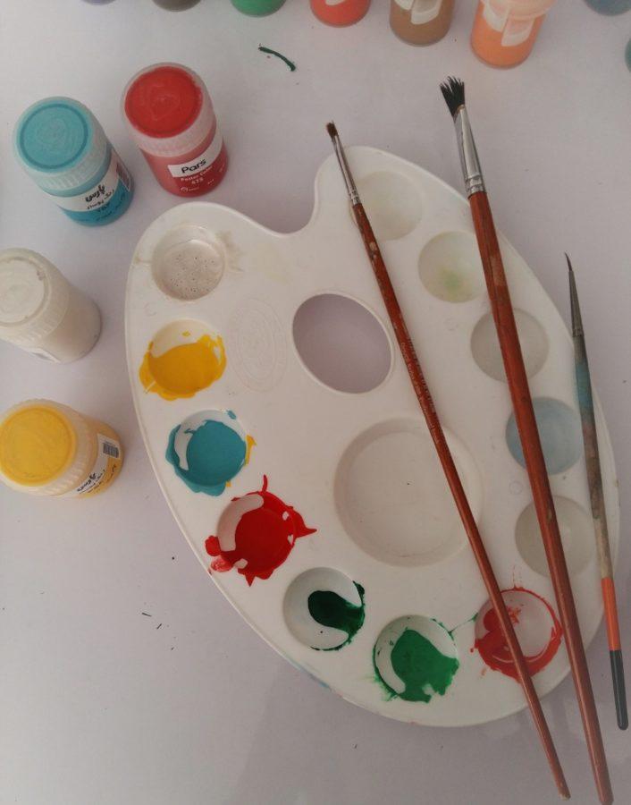 آموزش نقاشی با گواش روی بوم 2