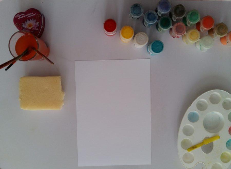 آموزش نقاشی با گواش روی بوم 8