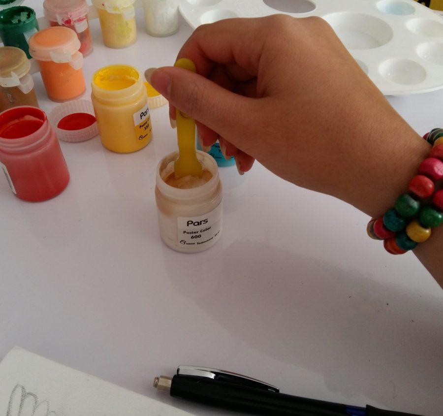 آموزش نقاشی با گواش روی بوم 9