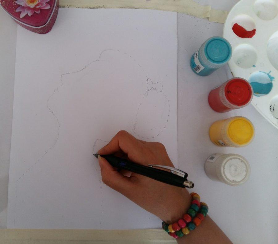 آموزش نقاشی با گواش روی بوم 10