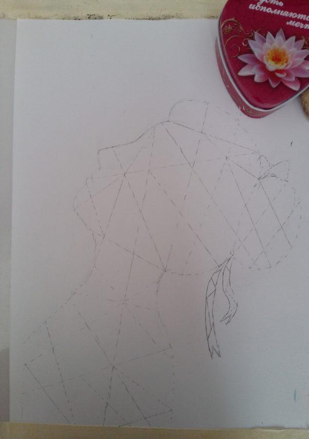 آموزش نقاشی با گواش روی بوم 12